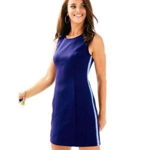 Lilly Pulitzer Mila Shift Scuba Navy Mini Dress M